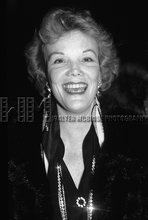 Nanette Fabray photographed in 1980 in New York City.