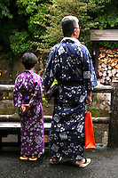 "Onsen Yukatas - Yukata is a Japanese summer robe. People wearing yukata are a common sight at fireworks displays, bon odori festivals and often worn after bathing at traditional Japanese inns. Though their use is not limited to after bath wear, yukata literally means ""bath clothes""."