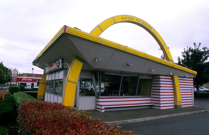 The architecture of the original McDonalds stores. One of three left in America, Portland, Oregon, USA