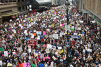 Marching for Change January 21, 2017, Women's March in  NYC, s/p Inauguration of Trump, New York City, NYC, the 99% speaks to Trump