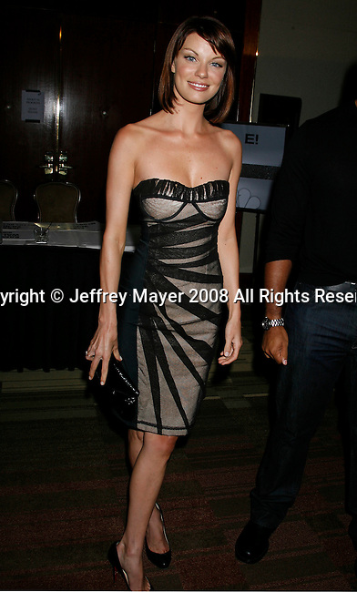Actress Nicole Hiltz arrives at the NBC Universal 2008 Press Tour All-Star Party at The Beverly Hilton Hotel on July 20, 2008 in Beverly Hills, California.