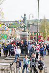 People gathering under Fr. Casey for the Junior Bone Playing competition which was held last Sunday  in the Square Abbeyfeale.