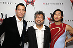 Clive Owen, Davd Henry Hwang and Jin Ha attends the Broadway Opening Night After Party for 'M. Butterfly' on October 26, 2017 at Red Eye Grill in New York City.