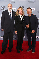 """11 April 2019 - Hollywood, California - Rob Reiner, Meg Ryan, Billy Crystal. 2019 10th Annual TCM Classic Film Festival - The 30th Anniversary Screening of """"When Harry Met Sally"""" Opening Night  held at TCL Chinese Theatre. <br /> CAP/ADM/FS<br /> ©FS/ADM/Capital Pictures"""