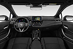 Stock photo of straight dashboard view of a 2019 Toyota Corolla Touring Sports Dynamic 5 Door Wagon