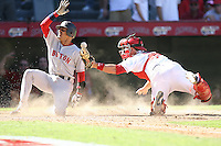 Anaheim, CA - October 7, 2007: In an MLB  game played at Angel Stadium in Anaheim, CA where the Boston Red Sox defeated the Los Angeles Angels 9-1 to win the ALDS 3 games to 1 and advance to the ALCS.