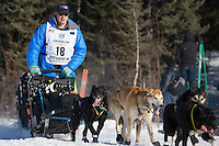 during the Restart of the 2016 Iditarod in Willow, Alaska.  March 06, 2016.