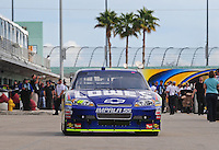 Nov. 20, 2009; Homestead, FL, USA; NASCAR Sprint Cup Series driver XXXX during practice for the Ford 400 at Homestead Miami Speedway. Mandatory Credit: Mark J. Rebilas-