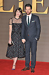 "Lizzy Caplan and Tom Riley at the ""Allied"" UK film premiere, Odeon Leicester Square cinema, Leicester Square, London, England, UK, on Monday 21 November 2016. <br /> CAP/CAN<br /> ©CAN/Capital Pictures"