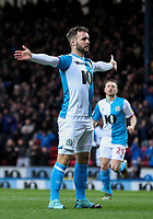 Blackburn Rovers' Adam Armstrong celebrates scoring the opening goal <br /> <br /> Photographer Alex Dodd/CameraSport<br /> <br /> The EFL Sky Bet Championship - Blackburn Rovers v Preston North End - Saturday 11th January 2020 - Ewood Park - Blackburn<br /> <br /> World Copyright © 2020 CameraSport. All rights reserved. 43 Linden Ave. Countesthorpe. Leicester. England. LE8 5PG - Tel: +44 (0) 116 277 4147 - admin@camerasport.com - www.camerasport.com