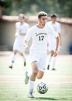 (Freelance, Photo by Kirby Lee)<br /> Occidental Colleges men's soccer vs. Whittier College on Oct. 17, 2015 in Kemp Stadium.<br /> (Freelance, Photo by Kirby Lee)
