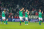 01.12.2018, Weser Stadion, Bremen, GER, 1.FBL, Werder Bremen vs FC Bayern Muenchen, <br /> <br /> DFL REGULATIONS PROHIBIT ANY USE OF PHOTOGRAPHS AS IMAGE SEQUENCES AND/OR QUASI-VIDEO.<br /> <br />  im Bild<br /> <br /> entt&auml;uscht / enttaeuscht / traurig / Niederlage<br /> Yuya Osako (Werder Bremen #08)<br /> Johannes Eggestein (Werder Bremen #24)<br /> Max Kruse (Werder Bremen #10)<br /> Davy Klaassen (Werder Bremen #30)<br /> Sebastian Langkamp (Werder Bremen #15)<br /> <br /> Foto &copy; nordphoto / Kokenge