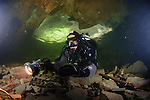 A diver in the Hodge Close Sump