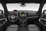 Stock photo of straight dashboard view of 2020 MINI Countryman Cooper-SE-JCW 5 Door SUV Dashboard