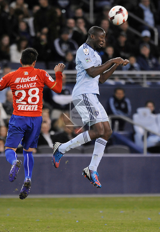 Sporting KC defeated Cruz Azul 1-0 in a first-leg game of the CONCACAF Champions League at Sporting Park in Kansas City, Kansas on Wednesday March 12, 2014.