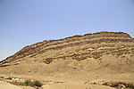 Israel, Negev, a view of Hatzera ridge at the Small Crater