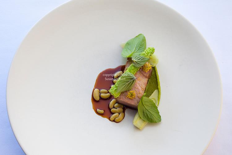 Pork collar, broccoli, fennel and basil