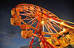 Ferris wheel at dusk.  Oktoberfest opens at Redstone Arsenal Parade Field.  Bob Gathany photo
