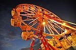 Ferris wheel at dusk.  Oktoberfest opens at Redstone Arsenal Parade Field.  Bob Gathany photo
