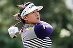 TAOYUAN, TAIWAN - OCTOBER 22: Amy Yang of South Korea tees off on the 3th hole during day three of the LPGA Imperial Springs Taiwan Championship at Sunrise Golf Course on October 22, 2011 in Taoyuan, Taiwan. Photo by Victor Fraile / The Power of Sport Images