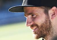 Kane Williamson.<br /> New Zealand Black Caps v Australia.Tri-Series International Twenty20 cricket. Eden Park, Auckland, New Zealand. Friday 16 February 2018. &copy; Copyright Photo: Andrew Cornaga / www.Photosport.nz