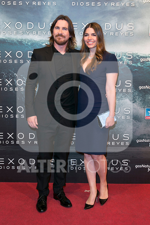 "Christian Bale attend the Premiere of the movie ""EXODUS: GODS AND KINGS"" at callao Cinema in Madrid, Spain. December 4, 2014. (ALTERPHOTOS/Carlos Dafonte)"