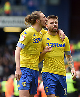 Leeds United's Luke Ayling and Stuart Dallas applauds the fans at the final whistle <br /> <br /> Photographer Hannah Fountain/CameraSport<br /> <br /> The EFL Sky Bet Championship - Ipswich Town v Leeds United - Sunday 5th May 2019 - Portman Road - Ipswich<br /> <br /> World Copyright © 2019 CameraSport. All rights reserved. 43 Linden Ave. Countesthorpe. Leicester. England. LE8 5PG - Tel: +44 (0) 116 277 4147 - admin@camerasport.com - www.camerasport.com
