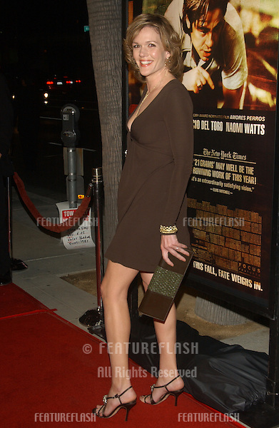 Actress CATHERINE DENT at the Los Angeles premiere of her new movie 21 Grams..November 6, 2003.