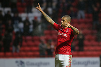 Josh MaGennis celebrates scoring Charlton Athletic's second goal during Charlton Athletic vs Oxford United, Sky Bet EFL League 1 Football at The Valley on 3rd February 2018
