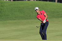 Joakim Lagergren (SWE) chips onto the 7th green during Saturday's Round 3 of the 2018 Turkish Airlines Open hosted by Regnum Carya Golf &amp; Spa Resort, Antalya, Turkey. 3rd November 2018.<br /> Picture: Eoin Clarke | Golffile<br /> <br /> <br /> All photos usage must carry mandatory copyright credit (&copy; Golffile | Eoin Clarke)