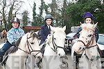 SADDLE UP: Liam Nolan (Tralee), Daire Chawke (Ballymac) and Ceiti Long, (Ventry) all saddled up and ready to take part in the Glenduff House annual hunt last Sunday organised by North Kerry Hunt Club.