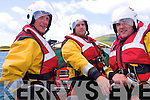 Demonstrating their rescue skills are Richie Green, David Walsh and Brendan Corkery of Ballinskelligs Community Inshore Rescue Service
