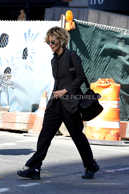 WWW.ACEPIXS.COM<br /> <br /> April 21 2014, New York City<br /> <br /> Actress Meg Ryan walks in Soho on April 21 2014 in New York City<br /> <br /> By Line: Curtis Means/ACE Pictures<br /> <br /> <br /> ACE Pictures, Inc.<br /> tel: 646 769 0430<br /> Email: info@acepixs.com<br /> www.acepixs.com