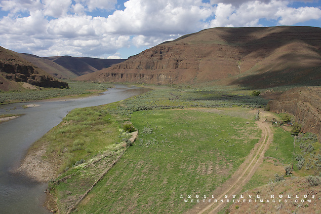 An old pasture and corral system at the mouth of Esau Canyon, Oregon.