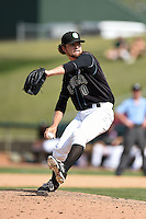 Kane County Cougars pitcher Michael Wagner (30) delivers a pitch during a game against the Quad Cities River Bandits on August 20, 2014 at Third Bank Ballpark in Geneva, Illinois.  Kane County defeated Burlington 7-3.  (Mike Janes/Four Seam Images)