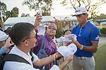 Rafael Cabrera Bello of Spain signs autographs during the 58th UBS Hong Kong Golf Open as part of the European Tour on 10 December 2016, at the Hong Kong Golf Club, Fanling, Hong Kong, China. Photo by Vivek Prakash / Power Sport Images