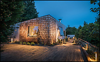 BNPS.co.uk (01202 558833)<br /> Pic: UniqueHomeStays/BNPS<br /> <br /> Bomb proof hideaway - the perfect place to cement a relationship...<br /> <br /> A concrete carport has been transformed into a ultra cool luxury staycation bolt hole - with even its fireplace, kitchen worktops and bath made from concrete. <br /> <br /> The Hide is perfect for romantic weekends away or creative solo escapes but it will set the minimalist traveller back up to &pound;2,350 a week in peak season.<br /> <br /> Despite its slightly industrial appearance, it is actually a cosy rural retreat, surrounded by nature at the end of a winding country lane three miles from Perranporth beach in north Cornwall.<br /> <br /> Unique Home Stays used a bird hide as the inspiration with quirky stick-out windows that allow guests to stargaze from the bed and lighting designed to replicate the effect of sunlight through trees.