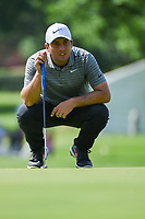 Francesco Molinari (ITA) lines up his putt on 2 during round 2 of the 2019 Charles Schwab Challenge, Colonial Country Club, Ft. Worth, Texas,  USA. 5/24/2019.<br /> Picture: Golffile   Ken Murray<br /> <br /> All photo usage must carry mandatory copyright credit (© Golffile   Ken Murray)