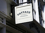 Sign for Fatface shop in Woodbridge, Suffolk, England, UK