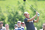Jeppe Huldahl teeing off on the 6th on day two of the Celtic Manor wales Open 2010.Picture Fran Caffrey/Newsfile.ie