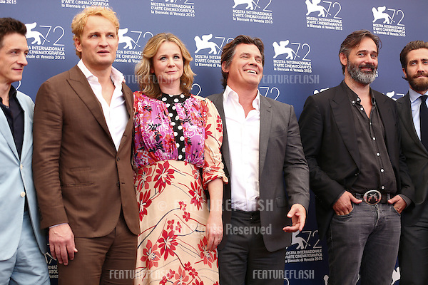 John Hawkes, Jason Clarke, Emily Watson, Josh Brolin, Balthasar Kormakur &amp; Jake Gyllenhaal at the photocall for Everest at the 2015 Venice Film Festival.<br /> September 02, 2015  Venice, Italy<br /> Picture: Kristina Afanasyeva / Featureflash