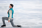 Javier Raya of Spain competes during Figure Skating Men's Short Program of the 2014 Sochi Olympic Winter Games at Iceberg Skating Palace on February 12, 2014 in Sochi, Russia. Photo by Victor Fraile / Power Sport Images
