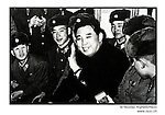 NR00745 /  Kim Il Sung with his soldiers...Although he deceased in 1994, he remains the President for Life of North Korea. This year North Koreans will celebrate the 10th anniversary of his death...Kim Il Sung avec ses soldats. Bien qu'il soit decede en 1994, il demeure le President a Vie de la Coree du Nord. Cette annee, les Nord-Coreens celebrerons le 10eme anniversaire de sa mort...Pyongyang, Coree du Nord, Archives north coreenne...©Nicolas Righetti/Rezo