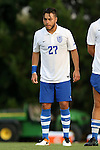 28 August 2016: Saint Louis's Spiros Karidis. The University of North Carolina Tar Heels hosted the Saint Louis University Billikens at Fetter Field in Chapel Hill, North Carolina in a 2016 NCAA Division I Men's Soccer match. UNC won the game 3-0.