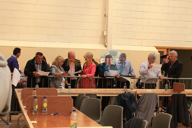 Fiscal Treaty referendum votes are counted and sorted at the count centre in Dundalk, Co Louth..Picture Fran Caffrey www.newsfile.ie
