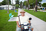 "Jerome Radtke, 72, sits in Flaming Park in Miami Beach, Florida July 17, 2011. He said he is not worried about the future of Social Security. ""It will always be around,"" he said. ""They won't do away with it because it's one of the few government programs that actually works.""..Kendrick Brinson/LUCEO"