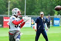 June 7, 2017: New England Patriots running back Dion Lewis (33) catches the ball at the New England Patriots mini camp held on the practice field at Gillette Stadium, in Foxborough, Massachusetts. Eric Canha/CSM