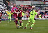 07/05/2016 Sky Bet League Two Morecambe v York City<br /> Barry Roche punches clear