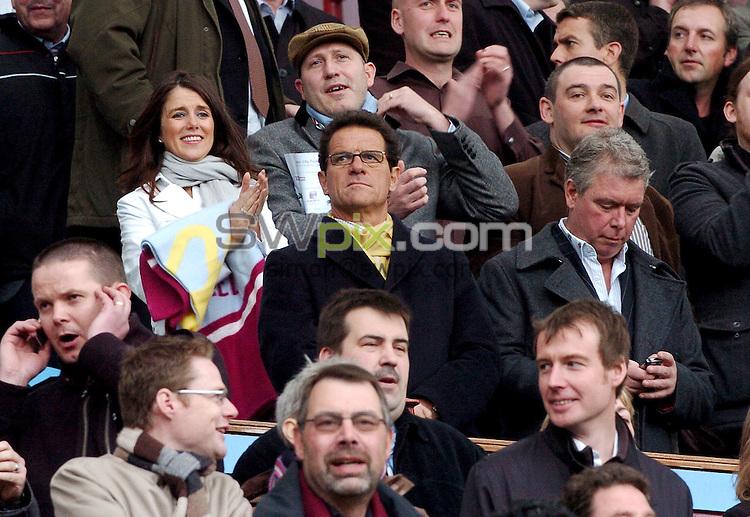 PICTURE BY Will Johnston/SWPIX.COM - Premier league football, Aston Villa v Birmingham City....20/04/08. Copyright - Simon Wilkinson - 07811267706...England Manager Fabio Capello
