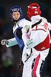 Mayu Hamada (JPN), <br /> AUGUST 18, 2016 - Taekwondo : <br /> Women's -57kg <br /> Preliminary Round Quarter-final <br /> at Carioca Arena 3 <br /> during the Rio 2016 Olympic Games in Rio de Janeiro, Brazil. <br /> (Photo by Sho Tamura/AFLO SPORT)